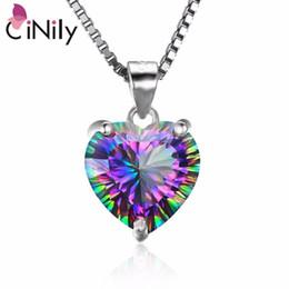 9650b8b3793a9 Pendentif en argent massif 925 créé avec un coeur en topaze mystique pour  pendentif de bijoux pour femmes sans chaîne SP018