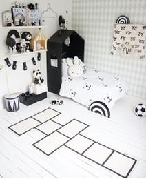 Wholesale Road Games - Checkers Children Crawling Mat Bedroom Living Room Carpet Continental Game Pad Kids Room Road Trip Floor Rug Mat