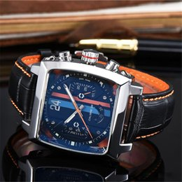 Wholesale Men Classic Square Watches - brands men's luxury automatic Openwork mechanical watch Leather band T series brand man watches classic reloj hombre clock 3 Color
