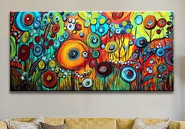 Wholesale Large Modern Wall Art Canvas - Modern Large Abstract Hand-Painted Art Wall Oil Painting on Canvas (No framed) 24*48inch
