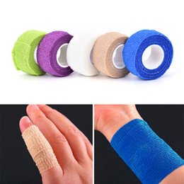 Wholesale First Cream - 2.5x4.5cm First Aid Health Care Gauze Tape 18 Colors Waterproof Breathable Self Adhesive Elastic Bandage