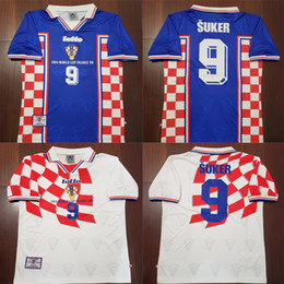 1998 world cup 2019 - 1998 World Cup Suker Home Away Retro Soccer Jersey 98  Vintage 0201ee2f9
