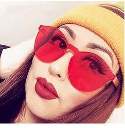 óculos de sol do olho de gato dos doces Desconto À moda transparente cat eye óculos de sol das mulheres dos homens designer de luxo limpar óculos de sol óculos integrados red candy