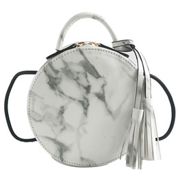 Wholesale Fire Plains - 2coloursFemale 2018 new ins super mini summer bag fire new small round package Han edition joker tassel inclined shoulder bag