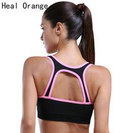 Wholesale Heal Up - HEAL ORANGE Women Sports Bra Girls Sports Bra Tops For Sport Fitness Running Gym Push Up Padded Stretch Bras Yoga Clothing
