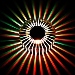 Lampada a girasole online-Lampada da parete girasole LED AC 90-260V applique da parete 3W diametro illuminazione 64cm lampada da interno per camera da letto Foyer decoration IL