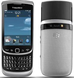 Argentina Original desbloqueado Blackberry 9810 teléfono móvil 5MP WIFI bluetooth QWERTY teclado 3.2 'Touch Screen Slider restaurado teléfono Suministro