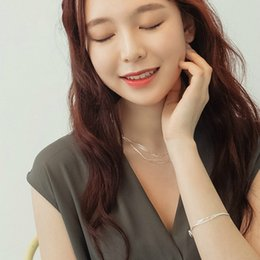 Silber armband allergie online-925 Sterling Silber Liebe Haken Hohe Qualität Schmuck Armband Zubehör Frauen Mode Verhindern Allergie Armband Geschenk