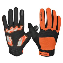 Wholesale Road Bicycle Winter Gloves - High Quality Winter Full Finger Cycling Bicycle Bike Gloves Sports Accessory road Mountain Bike Silicone Gloves Orange M L XL