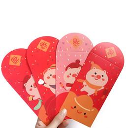 Conception d'enveloppe d'anniversaire en Ligne-10 Pcs Design Porc Rouge Paquet Rouge Enveloppe D'anniversaire Cadeau Enveloppe De Stockage Escolar