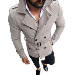 Sobretudo manteau casacos on-line-2018 Homens De Lã Engrossar Quente Manga Longa Trench Coat Casaco De Inverno Ocasional Men Turn-Down Collar Manteau Homme