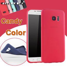 Примечание край тонкий чехол онлайн-Ультра тонкий конфеты цвет мягкий силиконовый чехол для Samsung Galaxy S9 S8 Plus S7 Edge Note 8 телефон случае красочные TPU матовая крышка