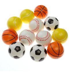 Wholesale Foam Soccer Balls - 6.3CM Soft Foam Sponge Basketball Baseball Tennis Ball Soccer Ball - Stress Relief Squeeze Therapy