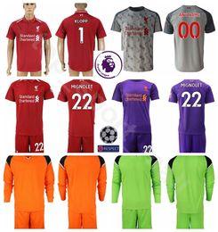 2018 19 Goalkeeper Long Sleeve Alisson Becker Jersey Men Soccer Set 1 Loris  Karius 22 Simon Mignolet Football Shirt Kits Uniform Custom Name cec8097a9
