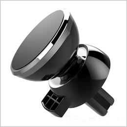 ring stand cinese Sconti Il più nuovo di buona qualità Forte supporto magnetico dello sfiato dell'aria dell'automobile 6 magnetico-ferro 360 gradi di rotazione Supporto universale del telefono per il telefono cellulare MQ100