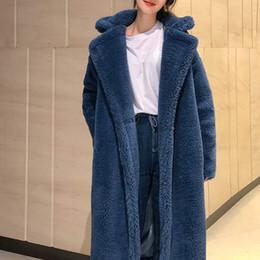 Argentina 3 colores S-XL suave Abrigo de lana Mujer Invierno 2018 moda Color sólido Delgado Elegante gruesa Larga Mezcla de lana Abrigos para mujer (Q8010) Suministro