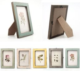 Wholesale Pictures Metal Homes - Free Shipping Grand Vintage Photo Frame Home Decor Wooden Wedding Casamento Pictures Frames 2016 New Arrival
