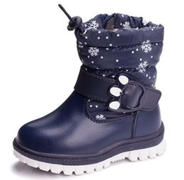 Jungen wandern stiefel online-Kinder Wasserdichte Schnee Stiefel Isolierte Winter Warm Martin Boot Jungen und mädchen Bergsteigen Wandern Ski Sport Outdoor Schuhe Anti Skid