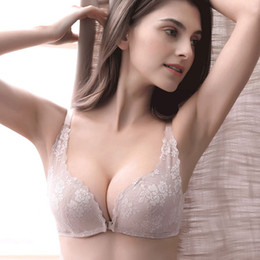 f5d783cfc152b Front buckle without rim bra new product lace gathered small chest beauty  back sexy underwear female bra