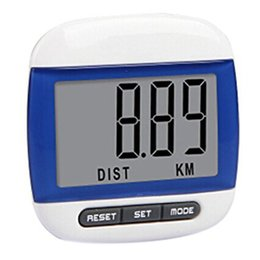 Wholesale Function Exercises - Mini Waterproof Step Movement Calories Counter Multi-Function Digital LCD Pedometer Sports Walking Exercise Distance Calculation