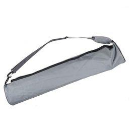 Матовый черный цвет онлайн-ARESLAND Yoga Mat Bags Back Pack 73X13CM Oxford Cloth Yoga Mat Carrier Sling Bag Waterproof Gym Bag Sports Pack Black/Grey Color