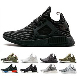 2019 negro gris r1 Adidas nmd R1 Venta caliente de oliva hombres mujeres zapatos para correr Triple negro blanco azul marino azul de camo gris para hombre entrenadores zapatos de diseño zapatillas deportivas US 5-11 rebajas negro gris r1