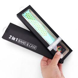 Para 2 en 1 caja de empaquetado de banda y caja de Apple Watch Caja de embalaje de PVC y cartón de alta calidad y más vendida desde fabricantes