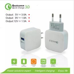 gatos usados Rebajas QC3.0 12V 9V 5V cargador de pared rápido Travel Adapter US US rápido cargador USB 18W para iphone X Samsung Galaxy S8 S9 Plus huawei xiaomi DHL