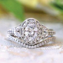 Lindos anéis de amor on-line-Moda Estilo de Arte 925 Padrão de Prata Oval Diamante Anel de Amor Bonito anel de Noivado Anel De Casamento Tamanho 6-10