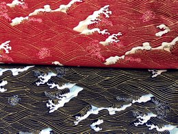 2019 tecido flor preta 3d ZENGIA 50x140 cm Vários Padrão de Onda Bronzeada Quimonos Japoneses Restaurando Patchwork Antigo Tecido De Algodão De Costura
