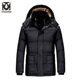 Wholesale Men Faux Fur Parka - Plus Size 7XL 8XL 9XL Winter Jacket Men Faux Fur Casual Jackets Hooded Thick Warm Parka Velvet Fleece Windbreaker Men PYS-D01