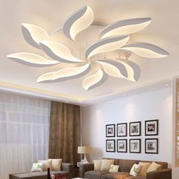 dessins de cuisine cool Promotion Nouveau Design Acrylique Moderne Led Plafonniers Pour Salon Chambre D'étude Chambre plafond lampe avize Plafonnier Intérieur