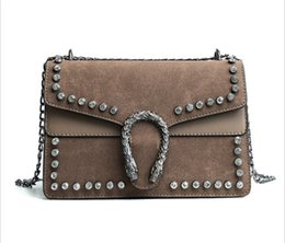Wholesale Diamante Diamond - new fashion women shoulder bags Diamond personality chain dull polish Bacchus Small flap square bag 3 colors