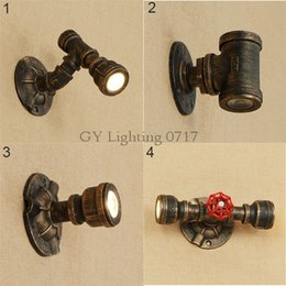 Wholesale Rustic Office Decor - Rustic LED wall light Cute home store office led wall sconces industrial restaurant bar decor mangueira de led iron pipe lamp
