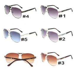 Wholesale Newest Designing Sunglasses - summer newest Luxury ladies driving metal Sunglasses man Fashion design sunglasses woman 5colors Eyewear black sun glasses AAA free shipping