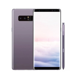 Wholesale dual sim android smartphones - Unlocked Goophone Note8 Note 8 Fingerprint Android 7.0 Cell phone Show Octa Core 4G RAM 64G ROM 4G LTE Smartphones