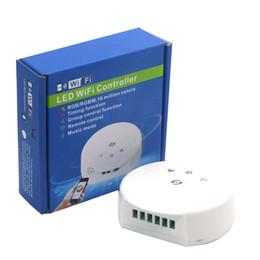 Wholesale rgb led ufo - Edison2011 Led RGB Wifi Controller DC12V-24V Magic UFO Wi Fi Led Controller fTiming Function or RGB RGBW LED Strip Lights