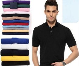 Wholesale men s business casual shirts - Top Brand clothing New Men Polo Shirt Men Small Horse Embroidery Business & Casual solid male polo shirt Short Sleeve breathable polo shirt