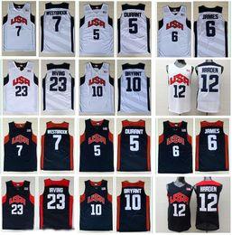 Wholesale usa olympic basketball - 2012 Olympic Games USA Dream Team #6 James #5 Kevin Durant 12#James Harden Jersey 7# Westbrook 10#Kobe Bryant Basketball Jerseys