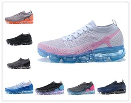Wholesale Canvas Knitting - New vapormax 2.0 Flagship Shoes men women white Black pink knitting trainers fashion designer sneakers Casual shoes