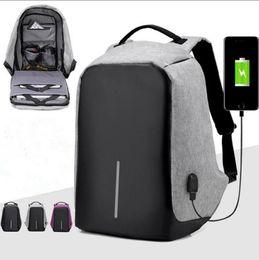 Wholesale Waterproof Business Backpack - Hot Selling USB Charging Backpack Anti-theft Hidden Zipper Laptop Backpacks Business Travel Bag Waterproof School Bags 3 Colors