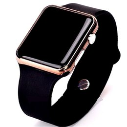 orologi da polso digitali Sconti L'orologio elettronico ha condotto gli orologi digitali del commercio estero del silicone dell'anello della mano del quadrato della mano degli uomini della vigilanza del movimento femminile