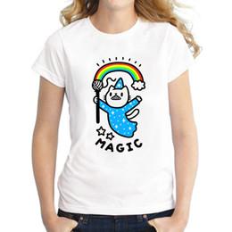 5d849f95a T das mulheres Hot Sales 2018 Mais Recente Moda Magical Wizard Gato Impresso  Mulheres T-shirt de Manga Curta Senhora Verão Tops Tee Casual