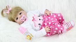 Wholesale Reborn Baby Girl Newborn - NPKCOLLECTION 55cm Full Silicone Body Reborn Girl Baby Doll Toys Newborn Princess Babies Doll Lovely Birthday Gift Child Present