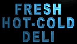 Wholesale Fresh Retail - F1696 Fresh-Hot-Cold-Deli-Food-Cafe NEW 3D LED Neon Light Sign Retail and Dropshipping Wholes 8 colors Customize on Demand