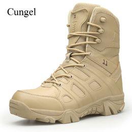 taktische turnschuhe Rabatt Cungel Army Tactical Stiefel Herbst   Winter  Sneakers Männer Outdoor Wanderschuhe Wasserdichte Vamp 3311fb095d