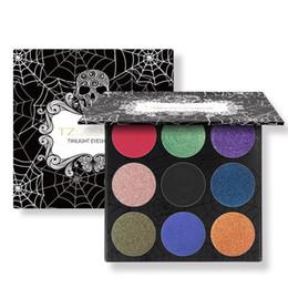 Glitter erröten make up online-TZ-Marken-9Colors-Augenschminke-Paletten-Mattdiamant-Glitter vereitelter Augen-Schatten in einer Palette erröten Make-upsatz für Schönheit