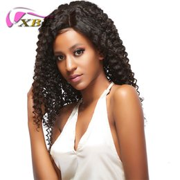 Wholesale half human hair wig - xblhair full lace deep wave human hair wigs also sell the body wave and straight half lace wig