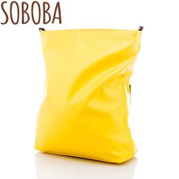 Argentina Soboba moda amarillo / leopardo apertura pañal para mami con estilo maternidad pañal cochecito bolsa de mensajero 2018 cheap yellow diaper bags Suministro