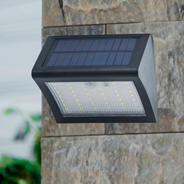 Wholesale Patio Lighting Solar - Solar Powered LED Wall Light Outdoor Waterproof Security Lights PIR Motion Sensor Solar Wall Lamp for Garden, Patio, Driveway, Deck, Stairs
